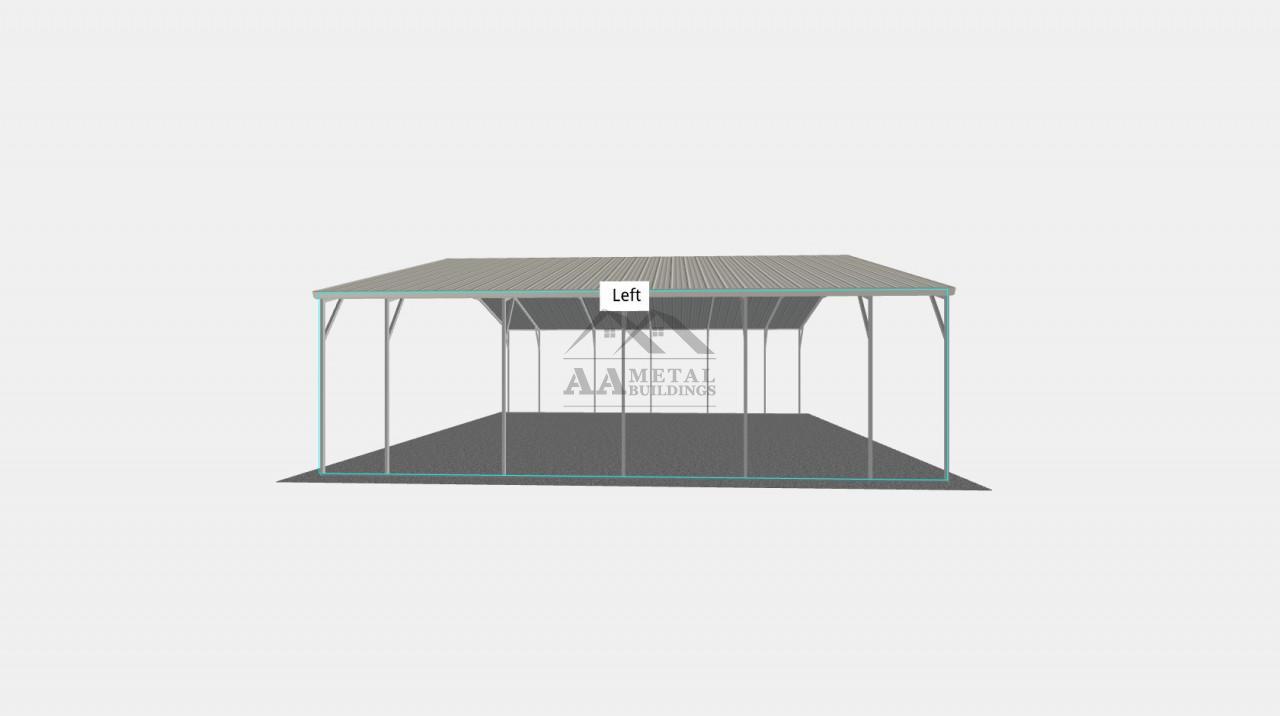 30x26' Vertical Roof Carport