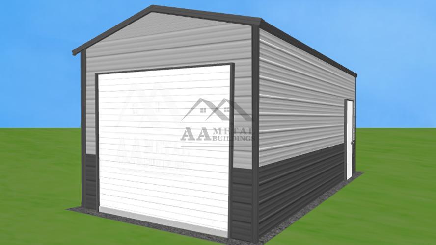 12x25' Vertical Roof Garage