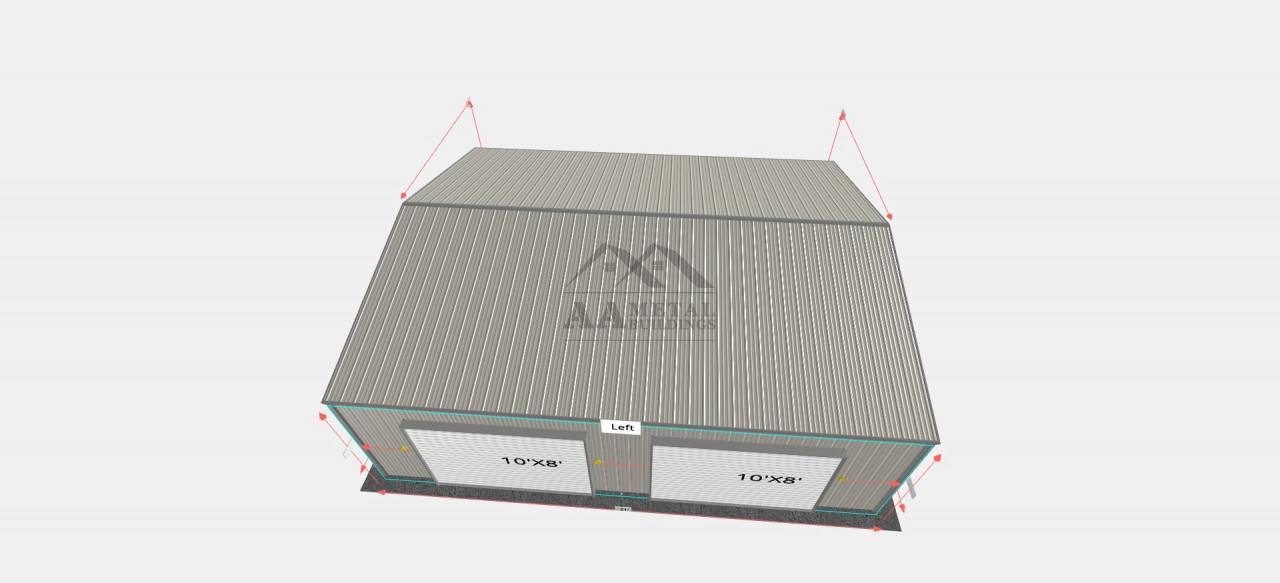26x30' Steel Garage