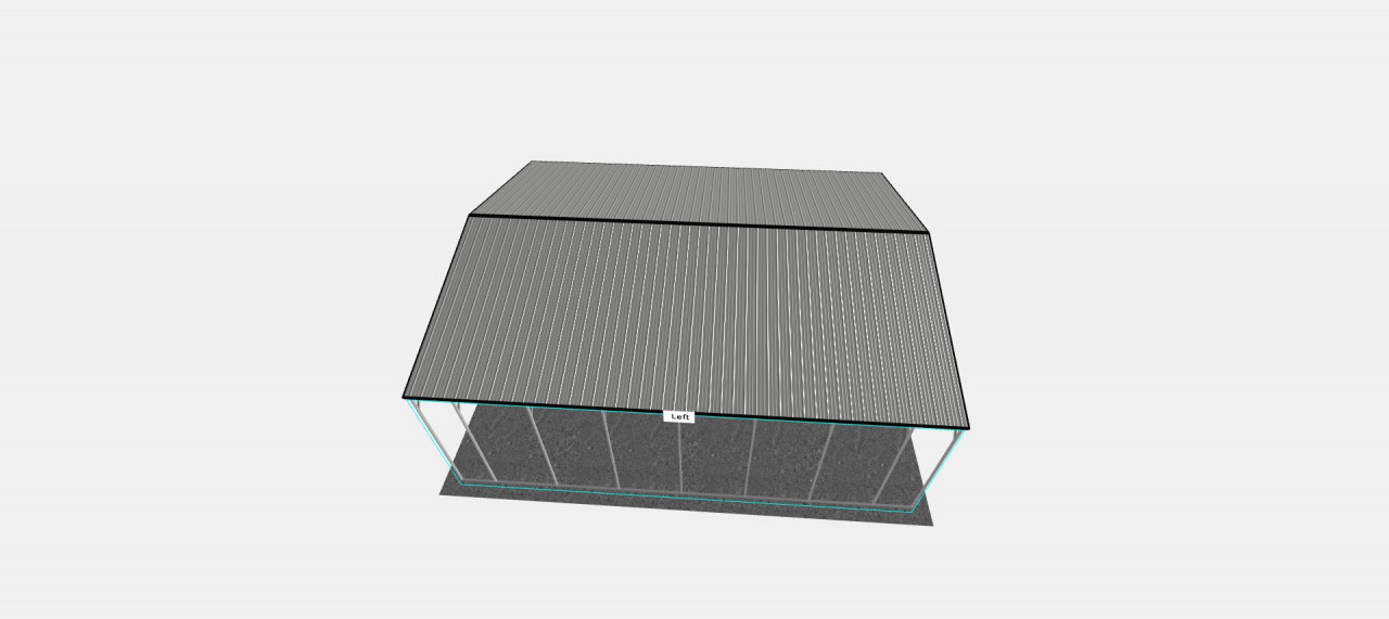 30x36' Vertical Roof Carport