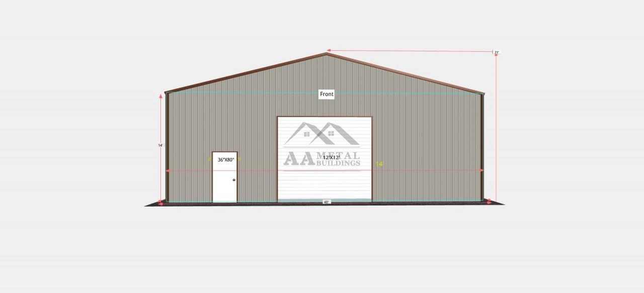 40x61' Steel Garage