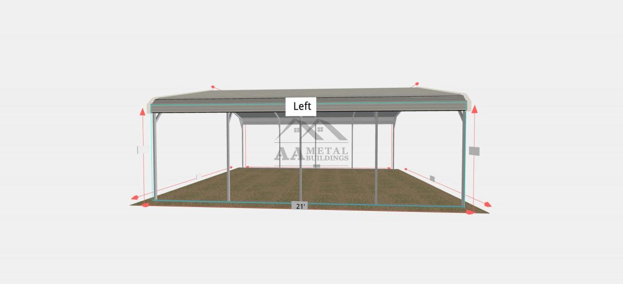 18x20 Regular Roof Carport