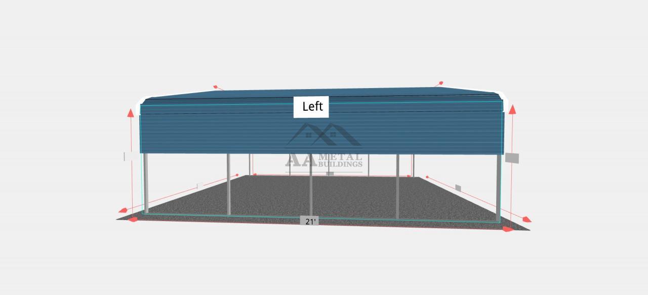 18x20 Regular Roof Steel Carport
