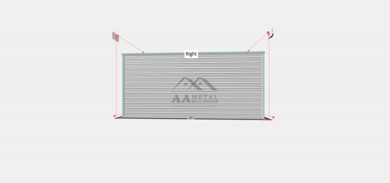 18x20 Vertical Roof Garage