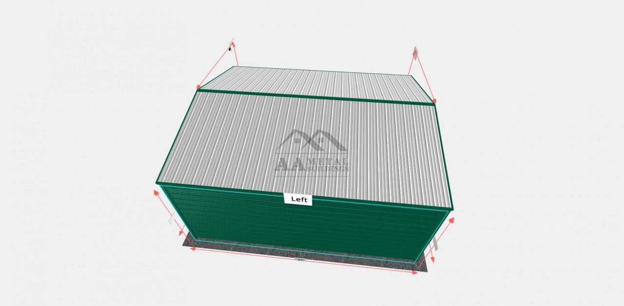 18x20 Vertical Roof Metal Garage