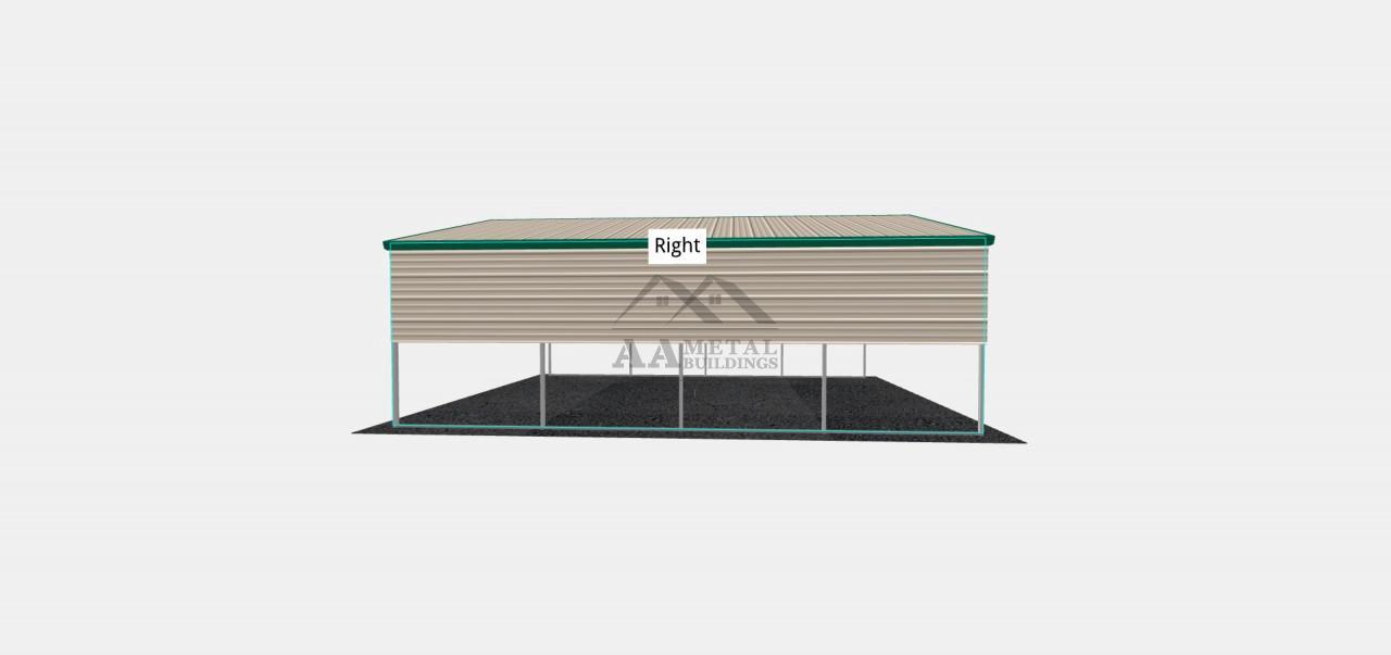 18x20 Vertical Roof Steel Carport