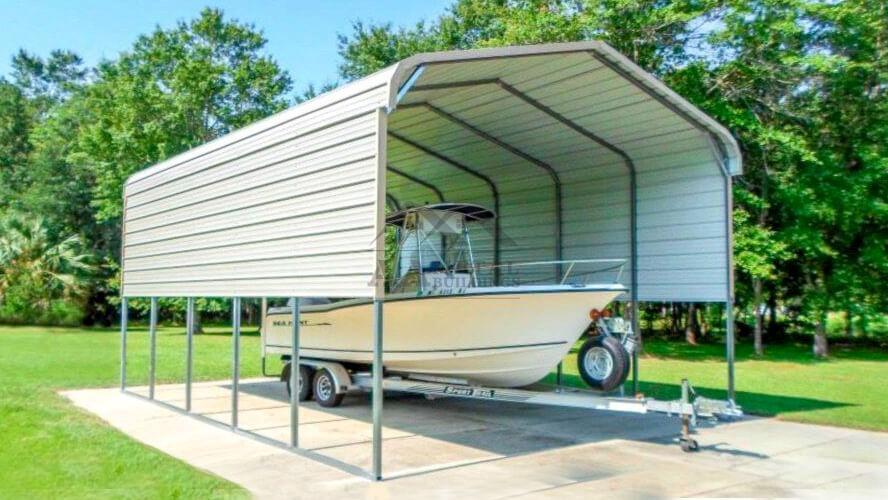 18x25 Metal Boat Carport