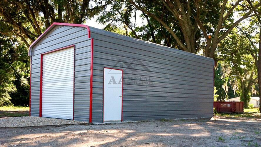 18x25 Regular Roof Steel Garage