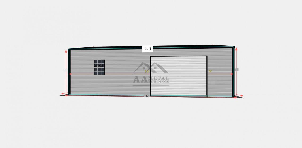 18x30 Enclosed Workshop Building