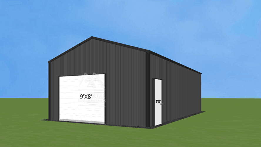 18x35 Enclosed Metal Building