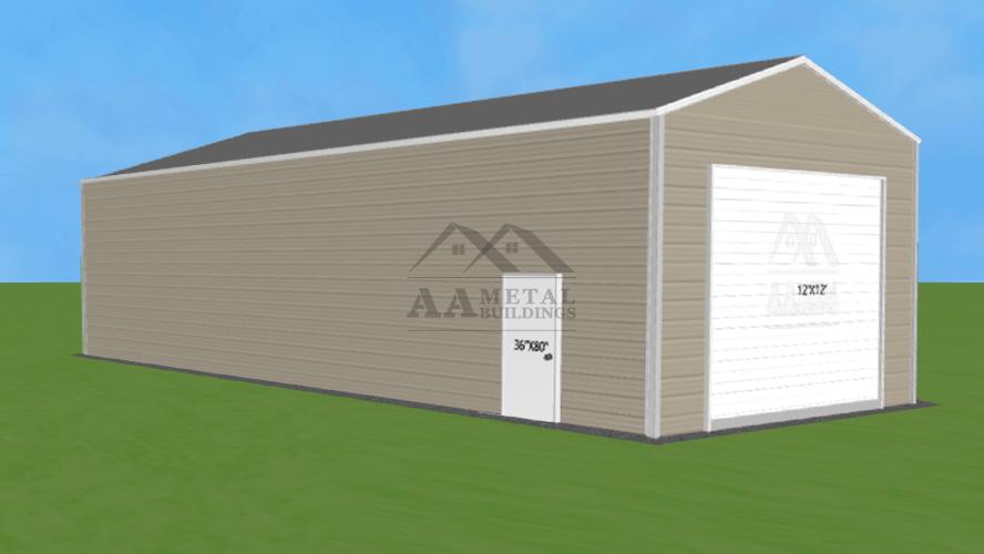 18x50 Vertical Roof Steel Garage