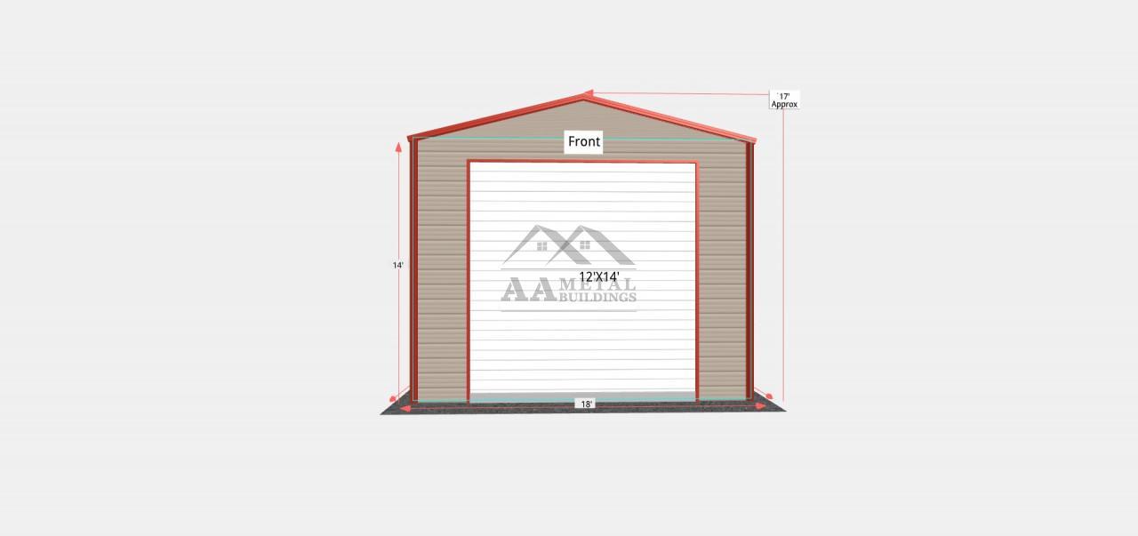 18x60 Metal RV Garage