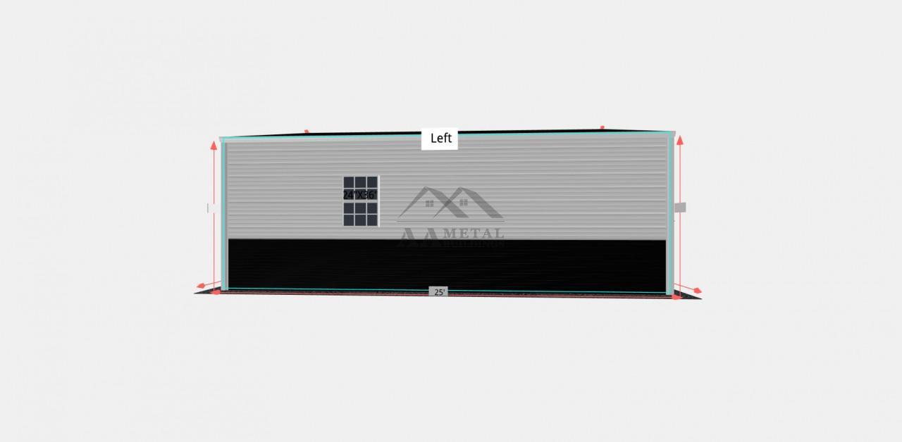 22x25 Vertical Metal Garage Building