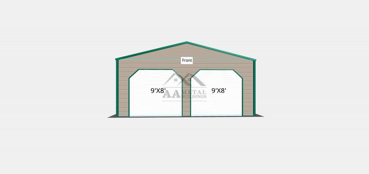 24x25 Two Car Garage