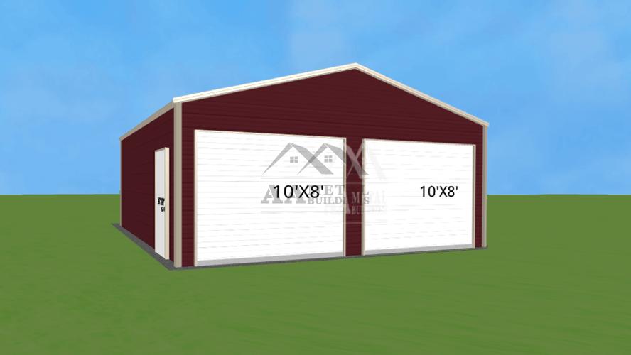 24x25 Enclosed Metal Building
