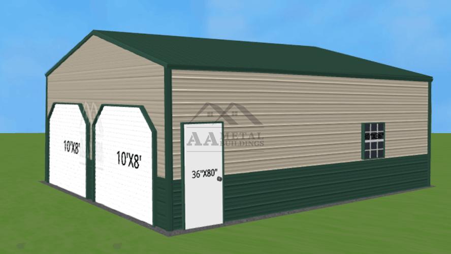 24x25 Vertical Roof Steel Building