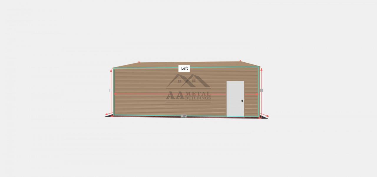 24x26 Box Eave Metal Garage
