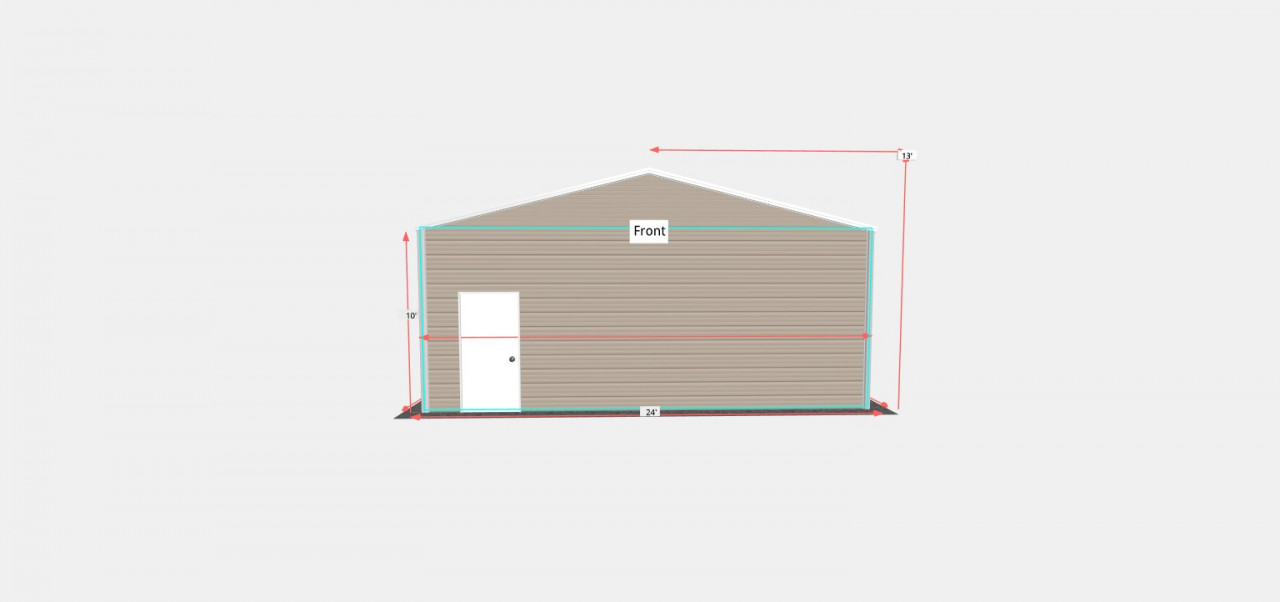 24x30 Double Car Steel Garage
