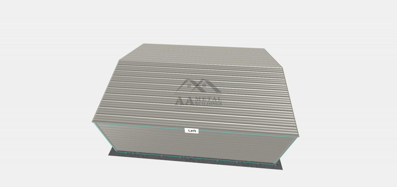 24x30 Metal Garage Structure