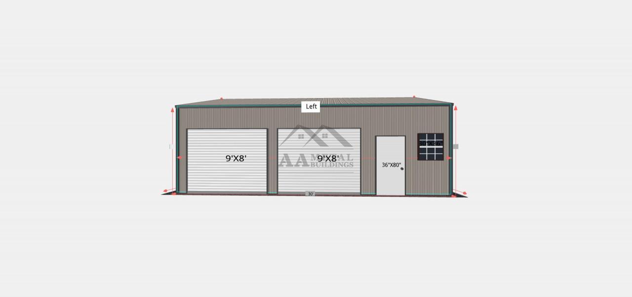 24x30 Two Car Garage Building