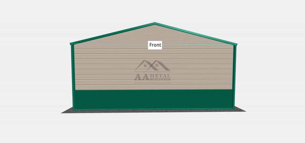 24x30 Two Car Steel Garage Building