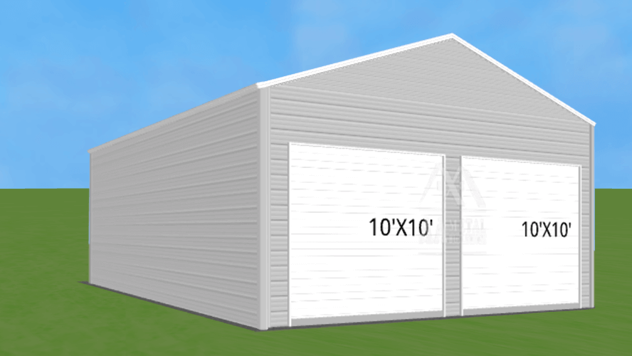 24x30 Box Eave Metal Building