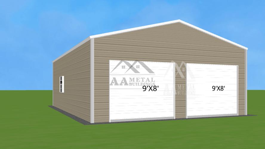24x30 Vertical Roof Garage