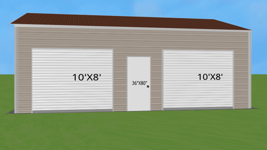 24x31 Double Garage