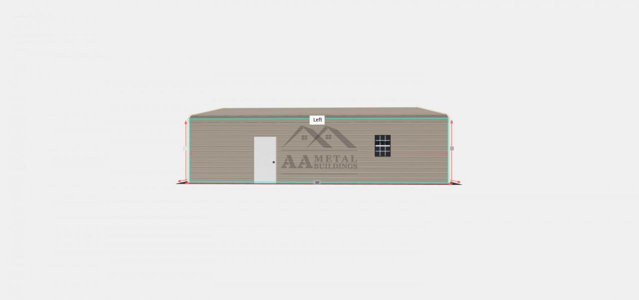 24x35 Regular Roof Metal Garage