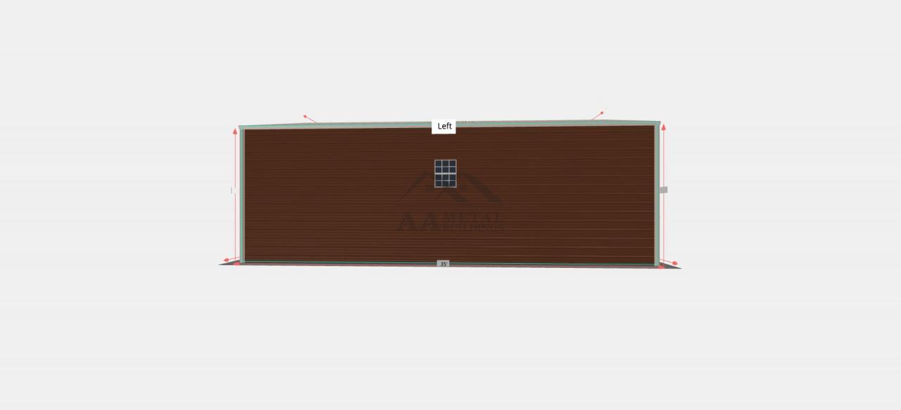 24x35 Vertical Roof Garage