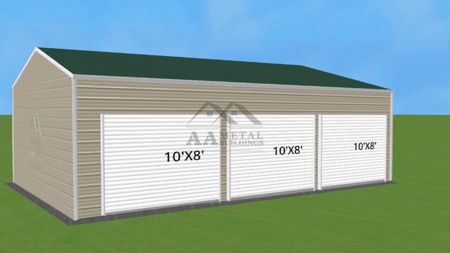 24x35 Side Entry Steel Building
