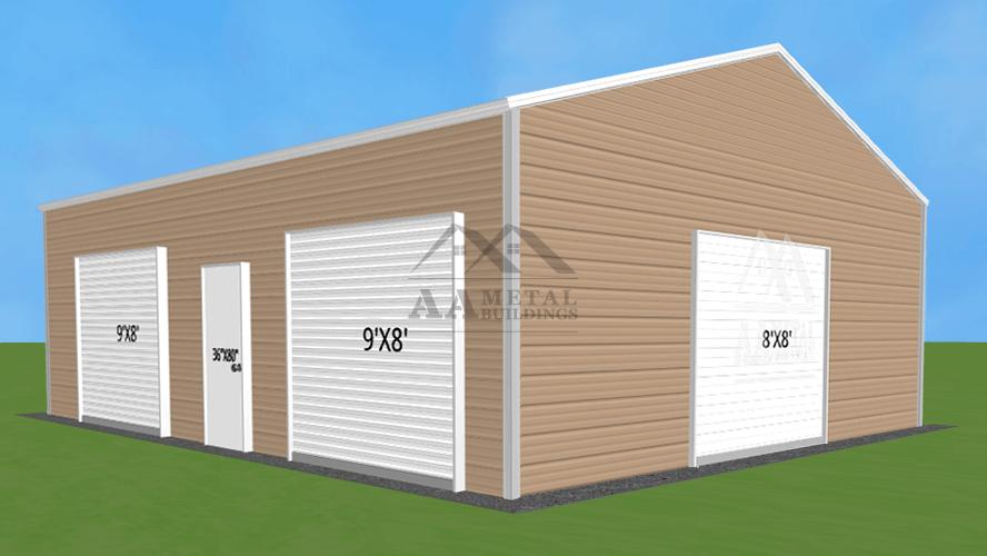 24x35 Steel Garage Building