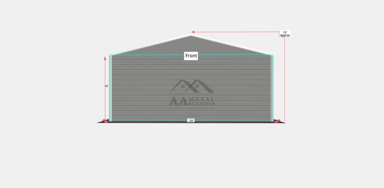 24x40 Side Entry Metal Garage Building