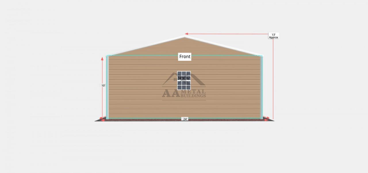 24x40 Side Entry Steel Garage
