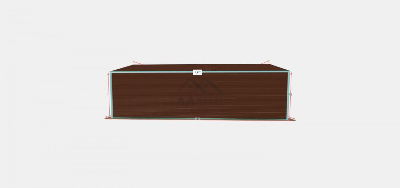 24x40 Vertical Roof Steel Garage