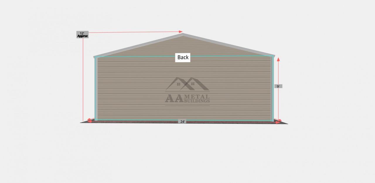24x45 Metal Garage Building