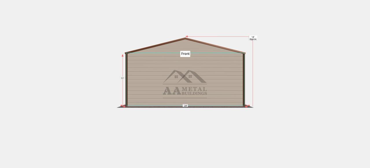 24x50 Enclosed Metal Garage