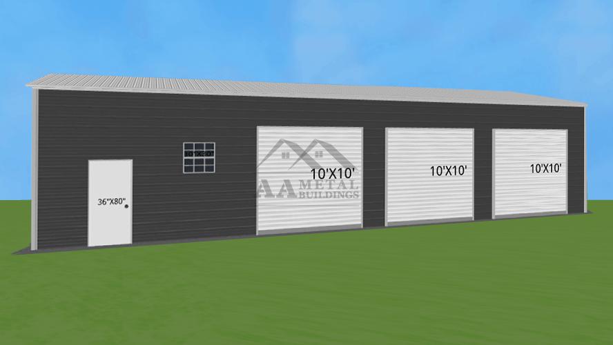24x55 Three Car Garage