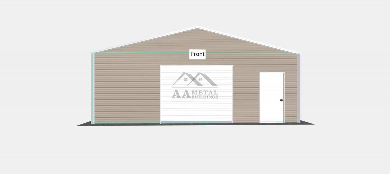 26x25 Metal Garage Building