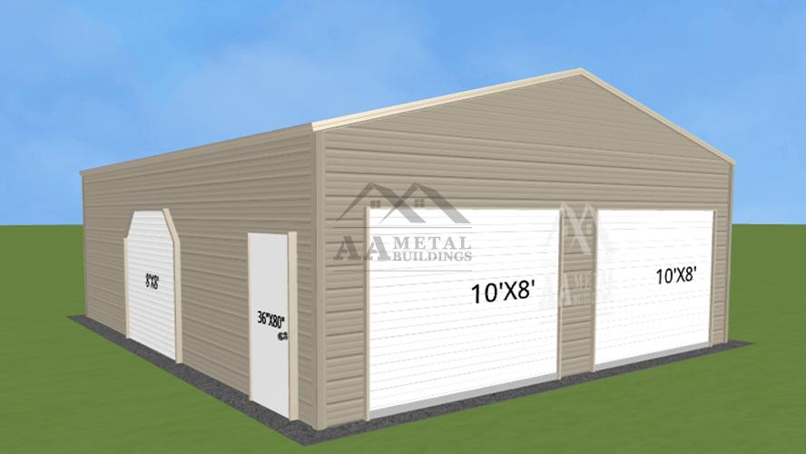 26x25 Steel Garage Building