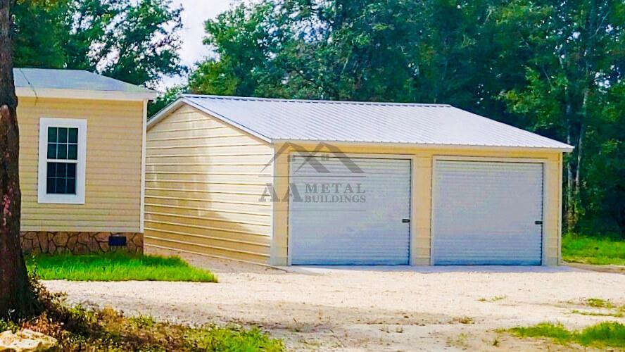 26x25 Vertical Roof Garage Building