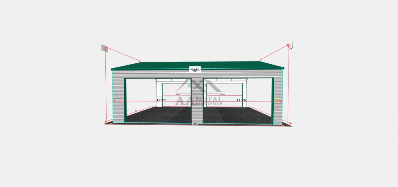 26x30 Double Carport