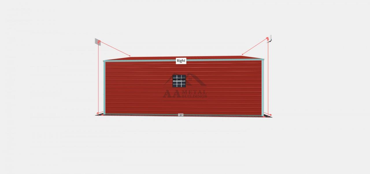 26x31 Metal Garage Building