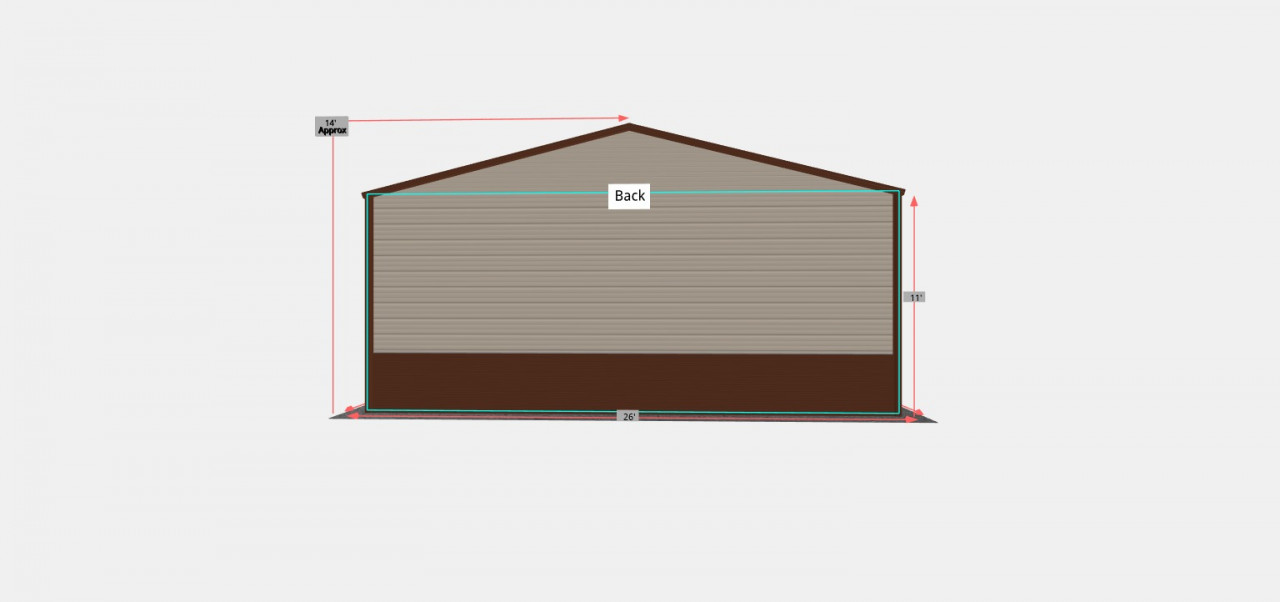26x35 Enclosed Steel Garage