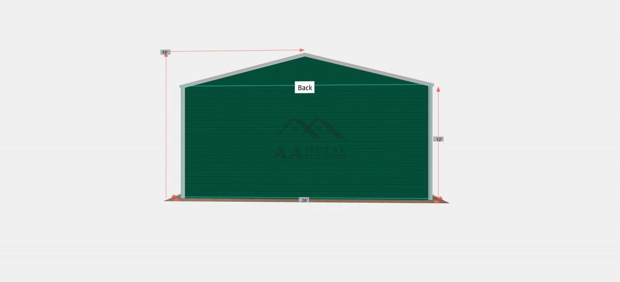 26x35 Metal Garage Building