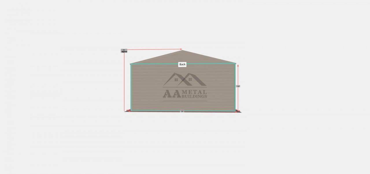26x35 Side Entry Garage