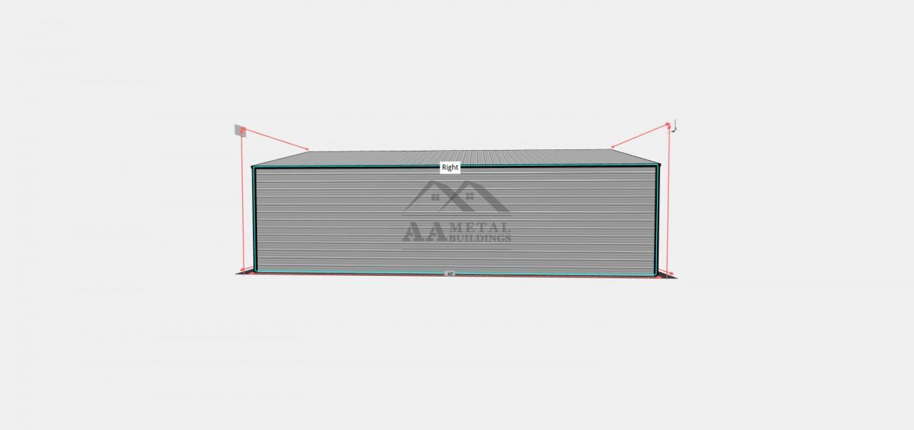 26x40 Vertical Roof Metal Garage