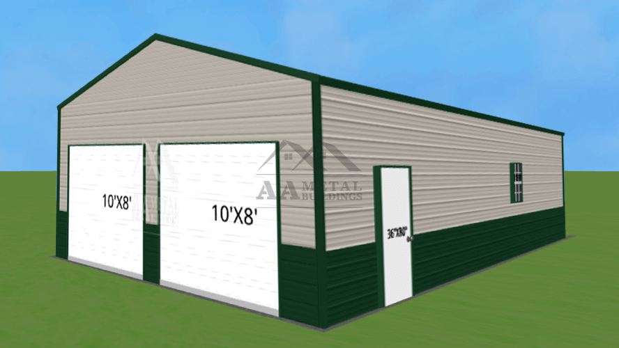 26x40 Two Car Metal Garage