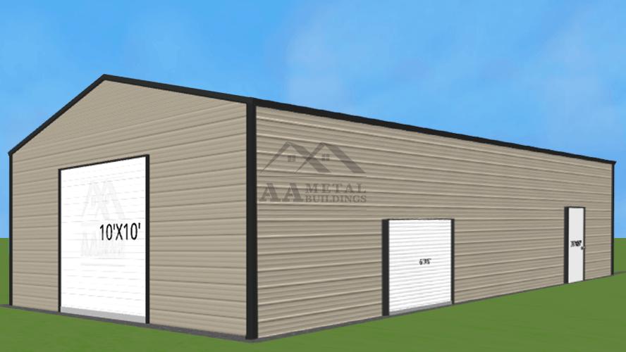 26x40 Vertical Roof Metal Building