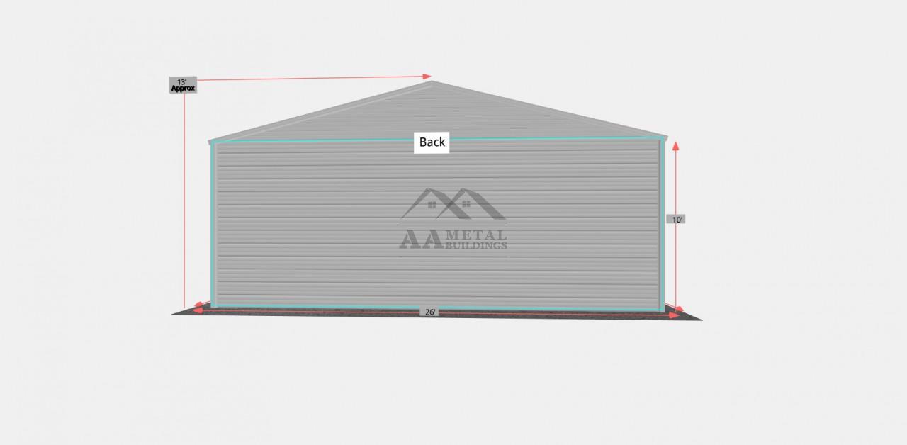 26x55 Side Entry Steel Building